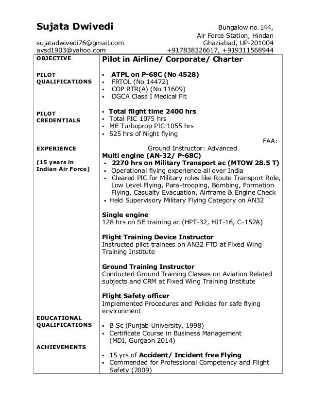 air force resume example