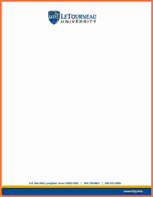 Letter Head Example.letterhead Template.jpg - Sales Report Template