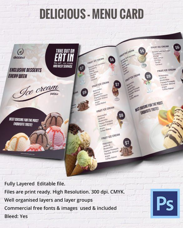Menu Card Template – 42+ Free Word, PSD, PDF, EPS, InDesign Format ...