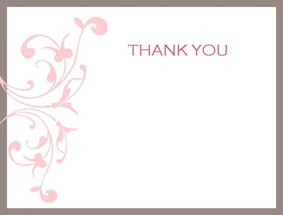 Thank You Card: Awesome Collection Thank You Cards Template Free ...