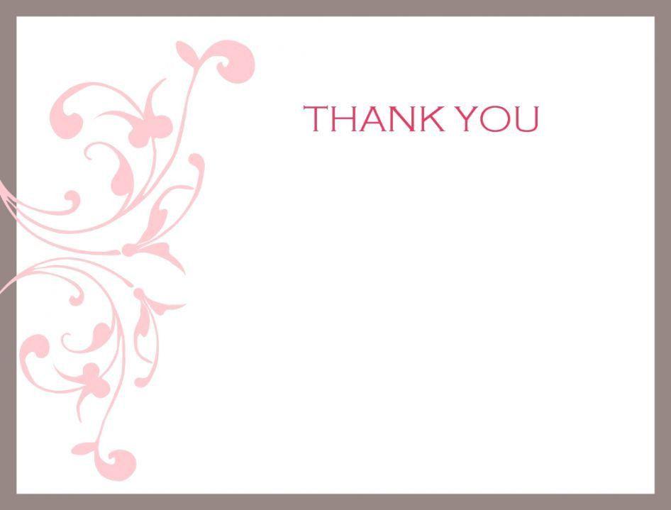 Thank You Card Template. Thank You Card Template Word Feminine ...