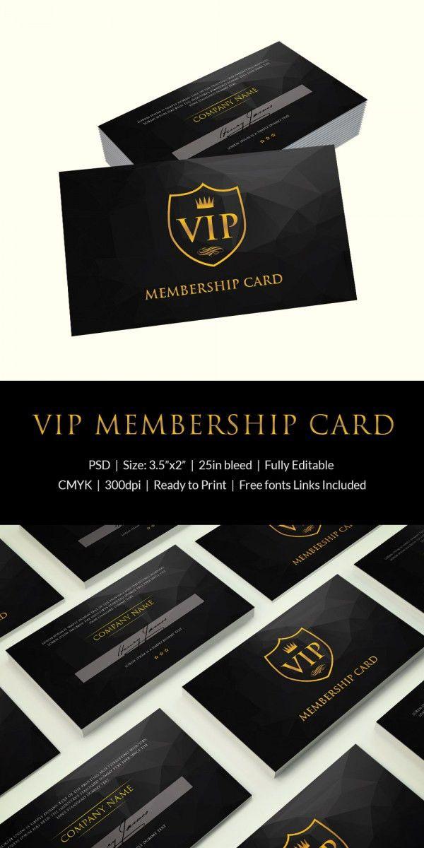 Membership Card Template - 31+ Free Printable Word, PDF, PSD, EPS ...