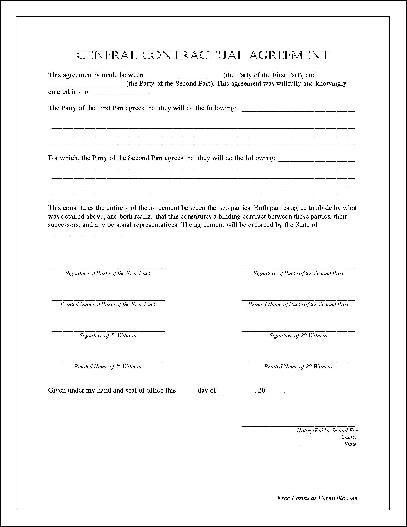 12 Best Images of General Land Lease Agreement Form - General ...