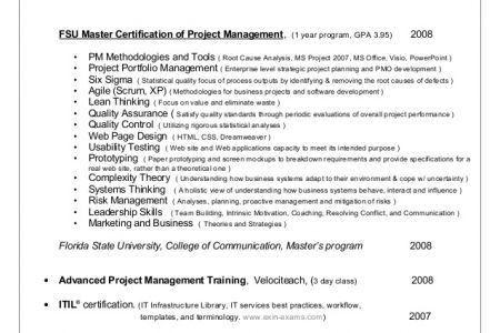 Certified Scrum Master Resume - Reentrycorps