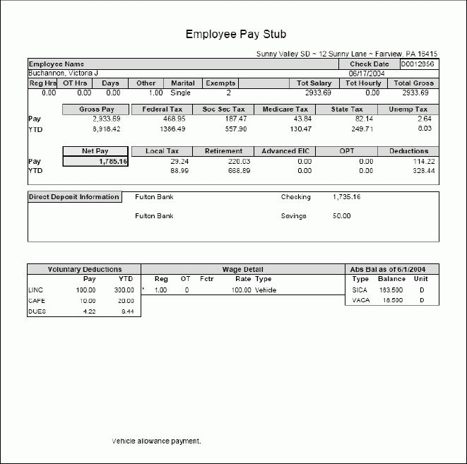 Paystub Templates – Free Pay Stub Designs and Templates in Excel ...