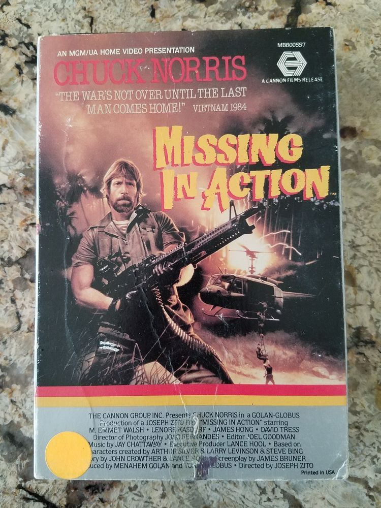 MISSING IN ACTION Beta Chuck Norris Original Release on Video ...
