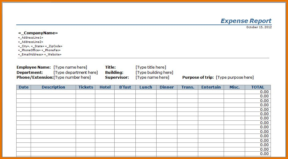 Expense Report Templates.Expense Report Template.png   Scope Of ...