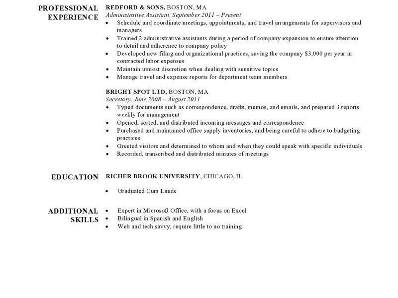 Resume Sample Harvard - Templates