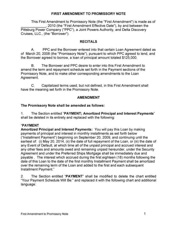 Promissory Note Word Document, sample promissory note template ...