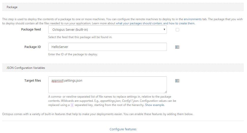 JSON Configuration Variables Feature - Octopus Deploy