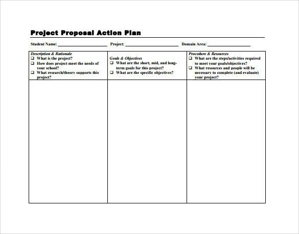 Sample Project action Plan Template - 9+ Documents in PDF , Word