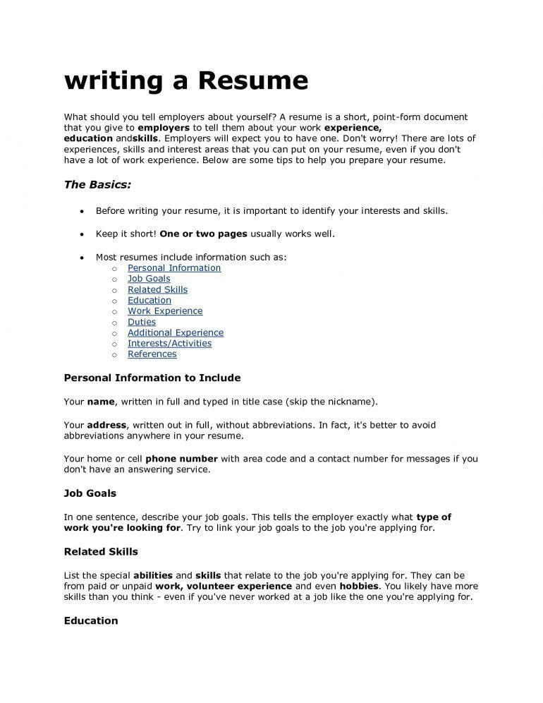 Download What To Say On A Resume | haadyaooverbayresort.com
