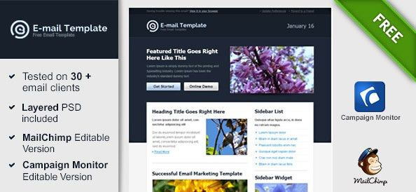 Modern HTML Email Template - Free Mail Templates