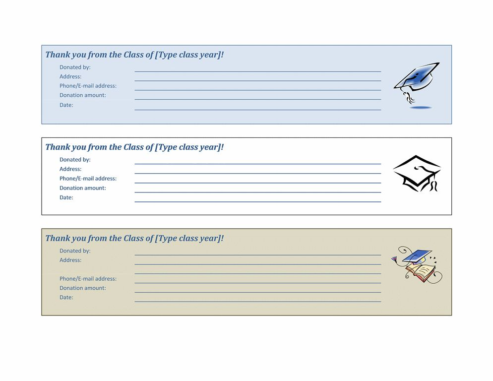 Donation Slip Template | Microsoft Word Templates