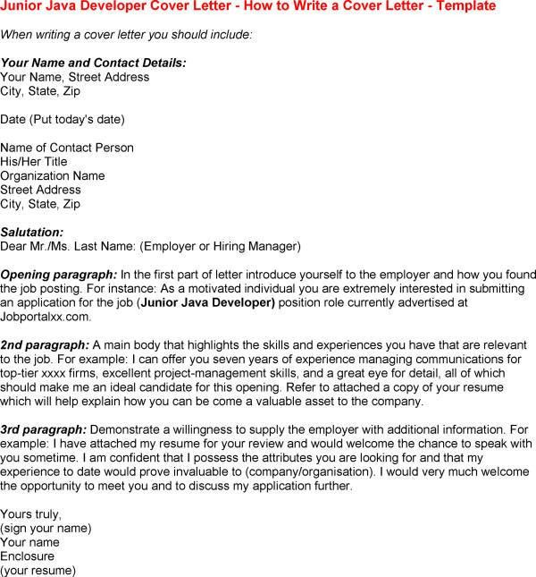 Junior web developer cover letter examples
