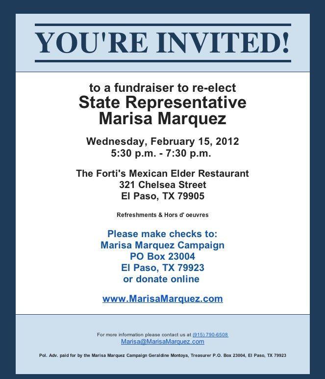Wording For Fundraiser Event Invitations
