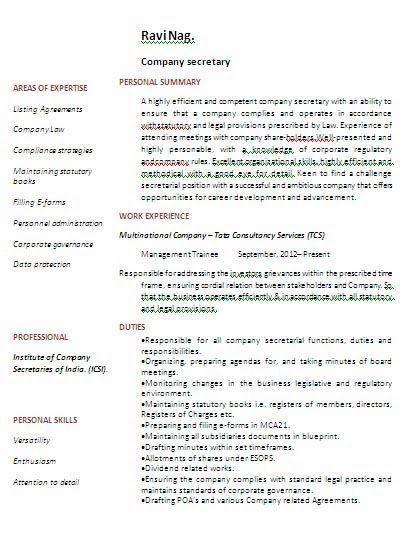 sample resume for secretary professional secretary templates to