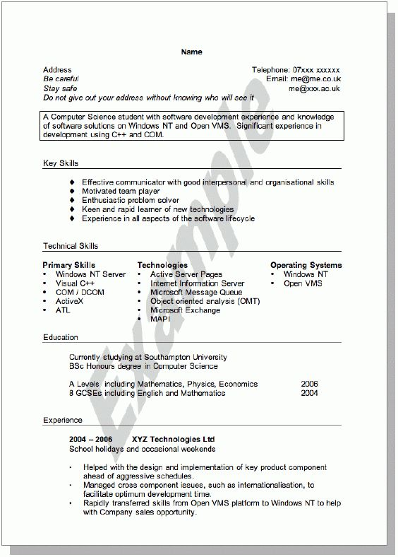 Download How To Write A Student Resume | haadyaooverbayresort.com
