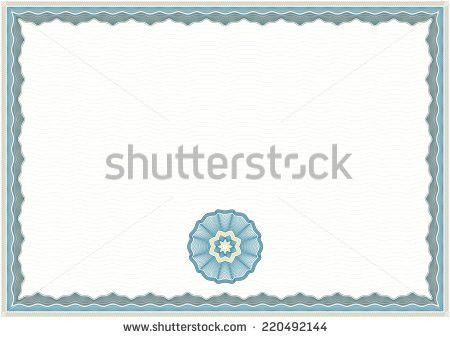 Guilloche Background Certificate Diploma Background Frame Stock ...
