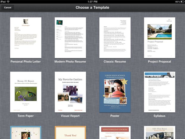 Pages – templates « iPad.AppStorm