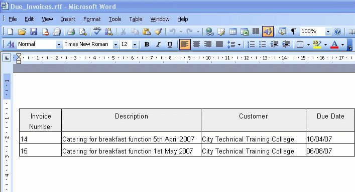 how to make an invoice template in word