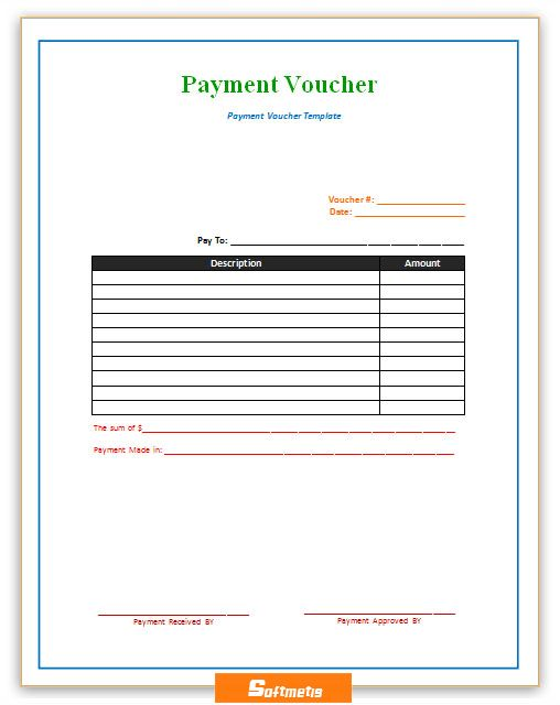 Payment Voucher Template | Soft - Templates