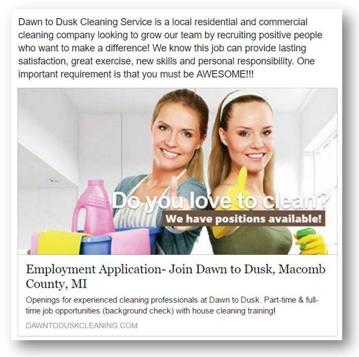 Using Social Media to Recruit Employees for Your Cleaning Business