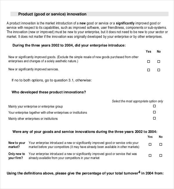 Product Survey Template – 8+ Free Word, PDF Documents Download ...
