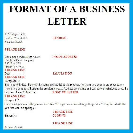 Best Photos of Sample Business Letter Format - Sample Business ...