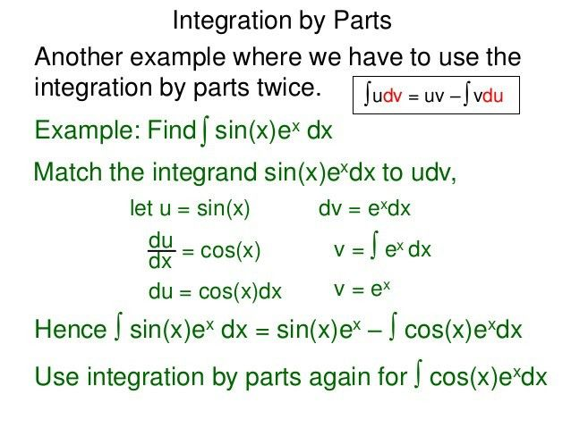 16 integration by parts