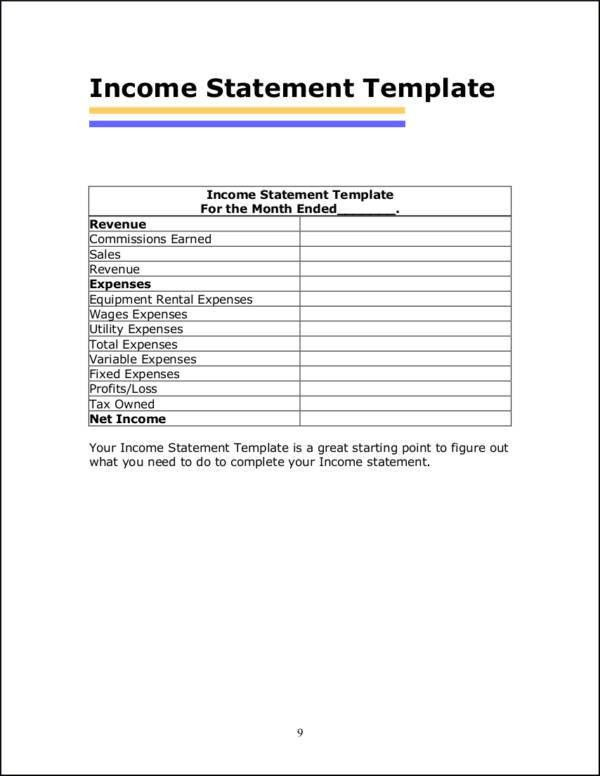 Income Statement Inclusions. Financial Analysis Methods Interpret ...