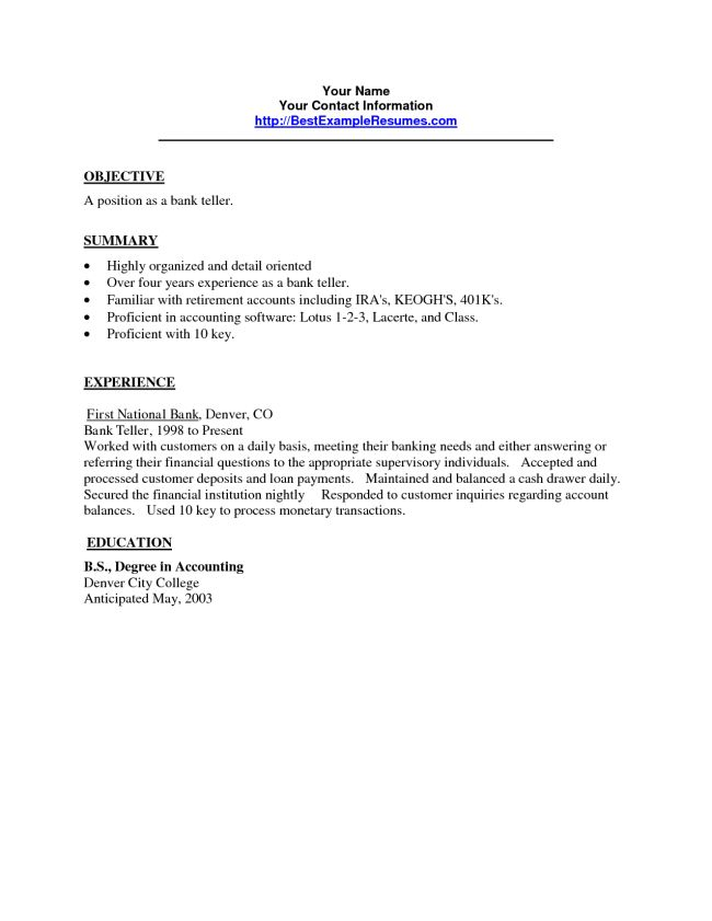 bank teller resume sample template page 2. resume teller skill ...