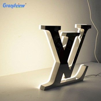 Embossing Outdoor Logo Signage Stainless Steel Acrylic 3d Backlit ...