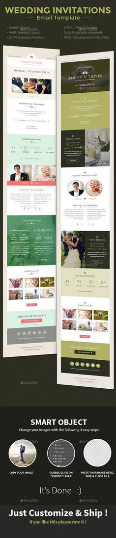 Wedding Invitation Email Template PSD. Download here: http ...