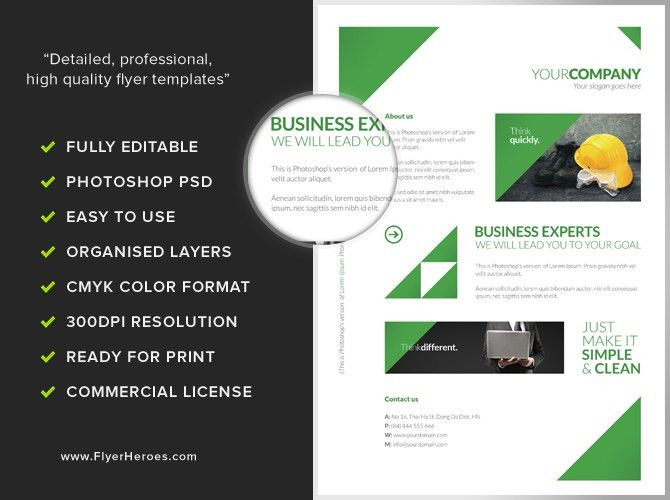 Free Clean Corporate A4 Flyer / Poster Template