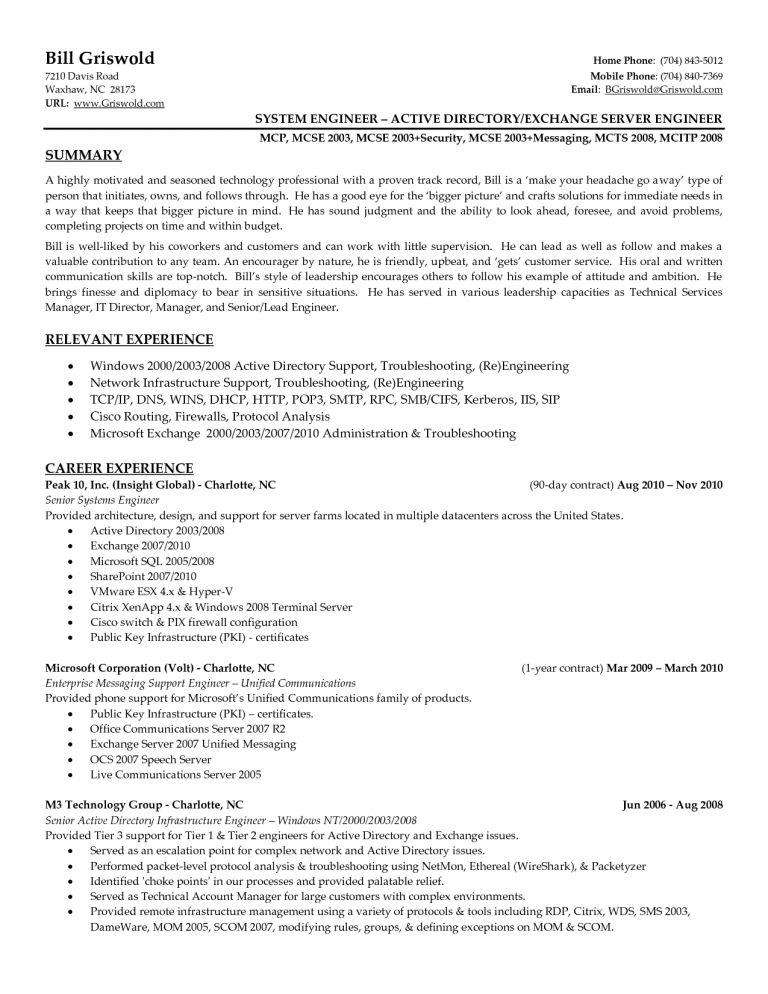 Junior Cisco Network Engineer Resume. ccna resume resume cv cover ...