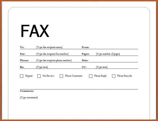 fax cover letter example | sop example