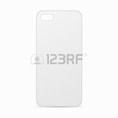 White Clean Template Cover Phone. Blank Template Case Phone ...