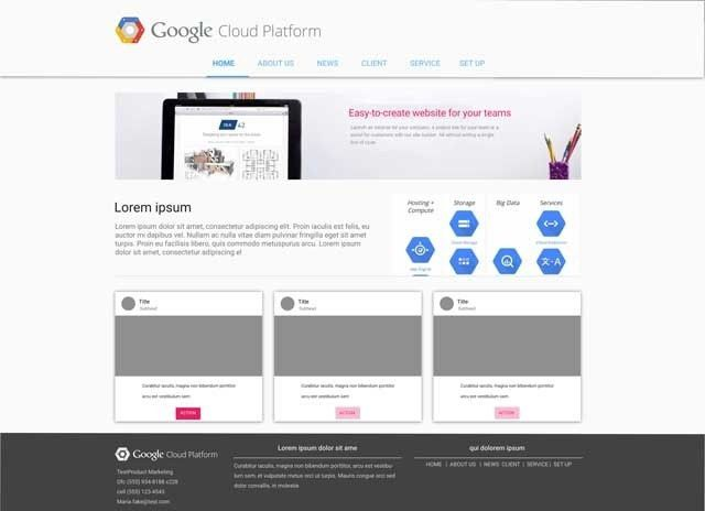 gcp2 - Google Sites Templates
