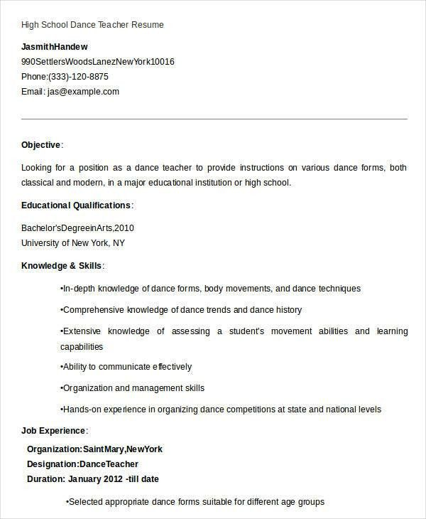 Teaching Resume Templates. Examples Teacher Resume Examples ...