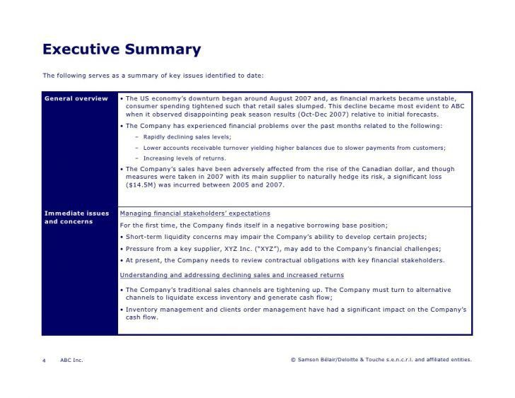 Executive Summary Powerpoint Template - Casseh.info