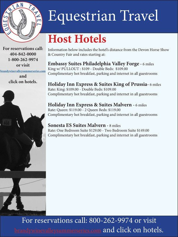 Hotel Information - Brandywine Horse Shows