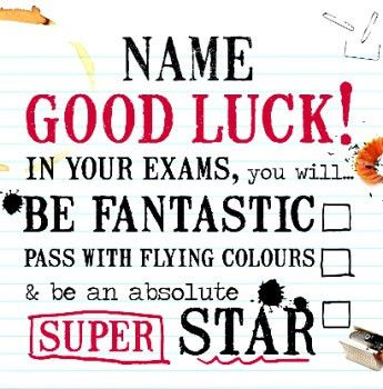 Greater Things - Good Luck With Exams | Cards | Pinterest | Positivity