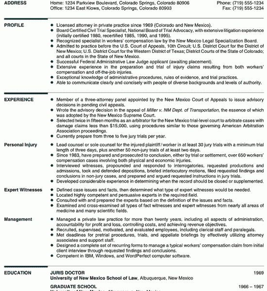 Stylist Inspiration Lawyer Resume Sample 13 Attorney Resume ...