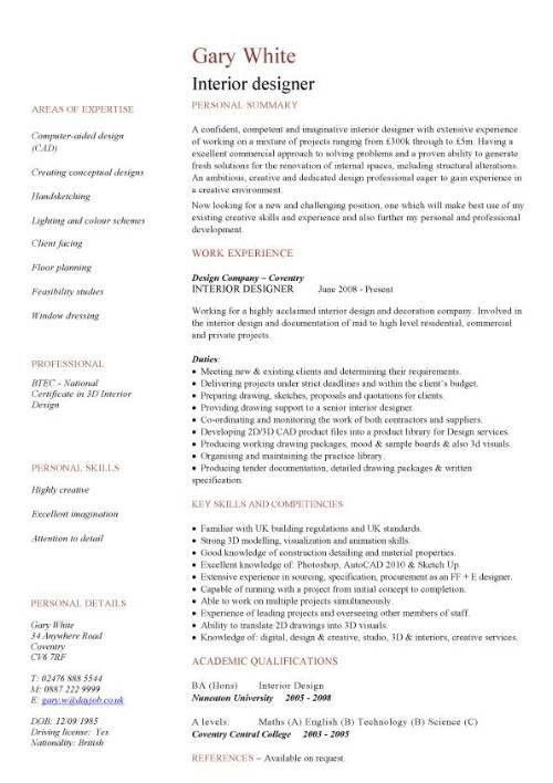 3 Architectural Designer Resume Sample Architecture Designer Cv ...