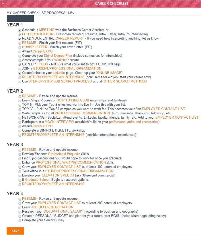 Career Report Sample