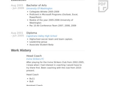 Soccer Coach Resume Examples soccer coach resume sample soccer ...