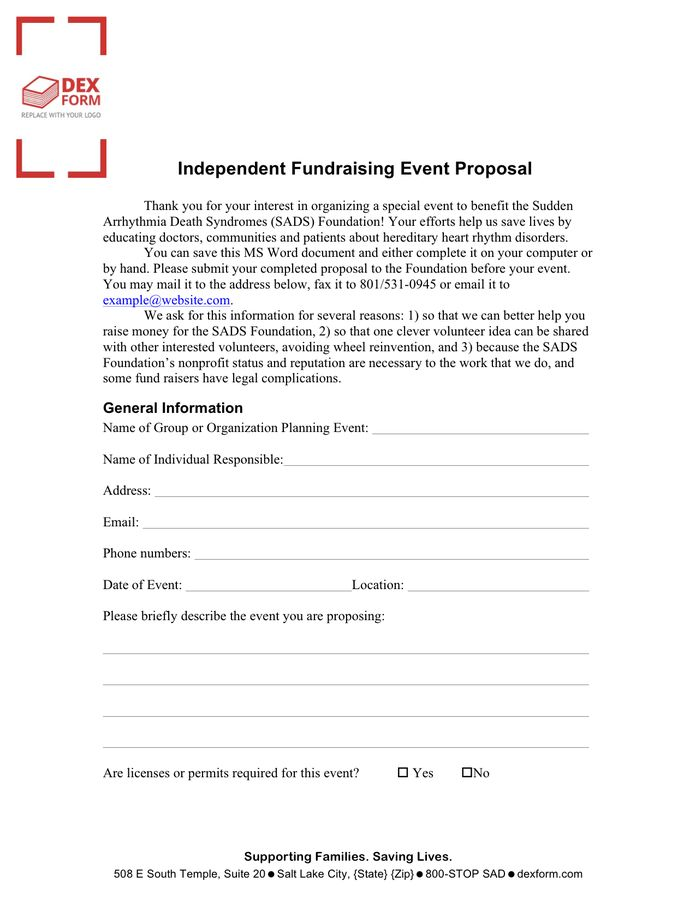 Event Proposal Template - download free documents for PDF, Word ...