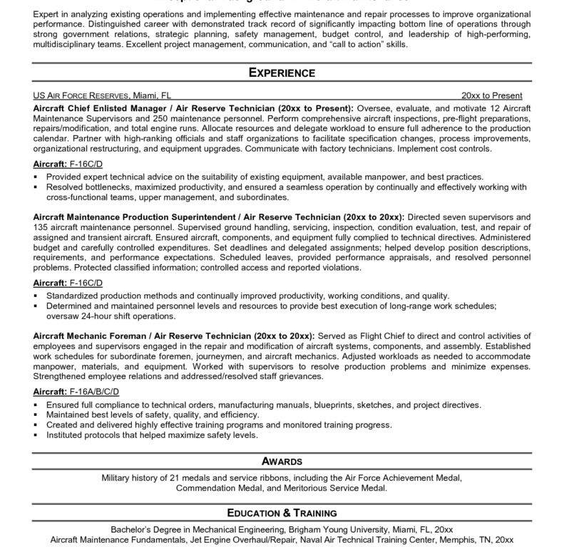 Maintenance Worker Resume - Resume Example