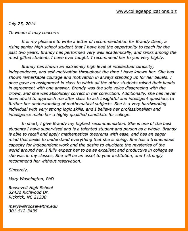 7+ college letter of recommendation template | assembly resume
